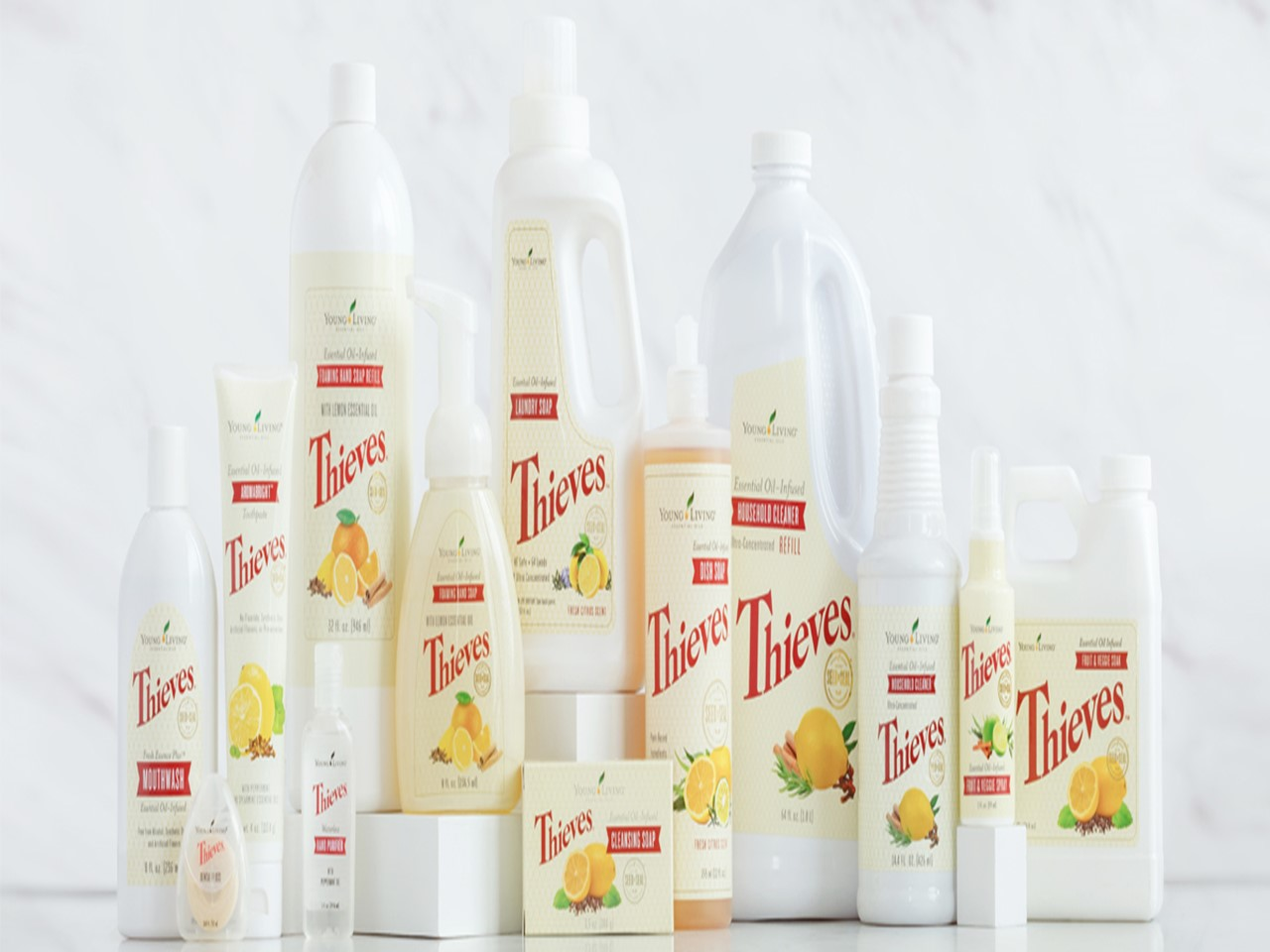 Thieves Family of Products LED skin Care Spa